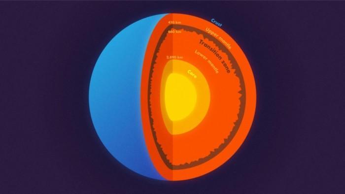 地震数据显示 地球深处有山脉