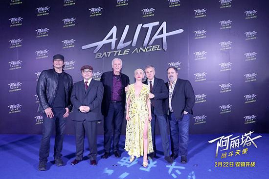 卡梅隆携主创空降《阿丽塔》中国首映礼