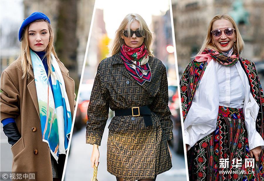 风衣+围巾的套路才是迎春的正确态度