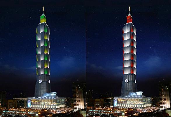 台北101大楼今晚将上演全台最高元宵灯光秀