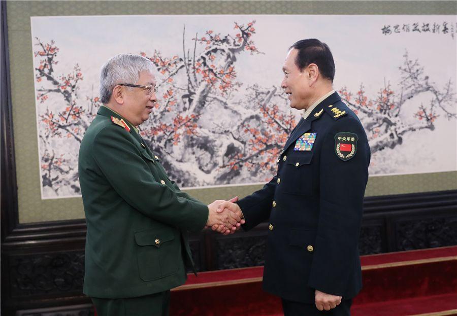 魏凤和会见越南国防部副部长