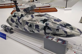 国外关注中国展出隐形无人船 采用模块化设计