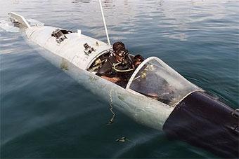 你以为是失事战机?这是伊朗秘密双人潜艇!