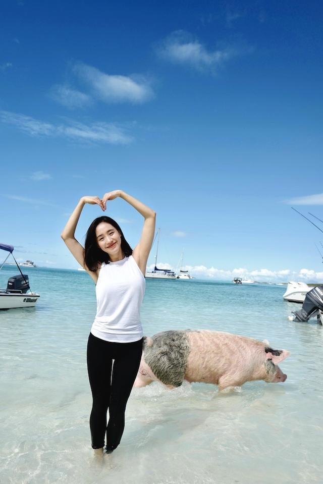 """王智元宵节晒运动范旅行照 猪年伊始遇见一岛""""二师兄"""""""