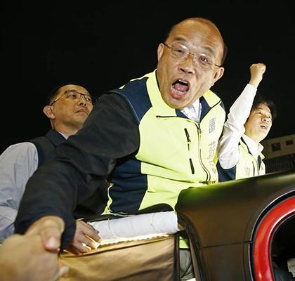 苏贞昌酸大陆 网友讽:绿营贪污犯还能趴趴走