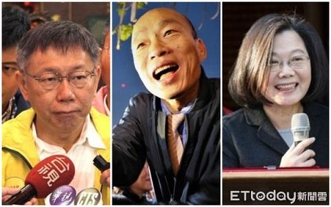 """台媒民调:若参加2020""""大选""""韩国瑜支持度遥遥领先"""