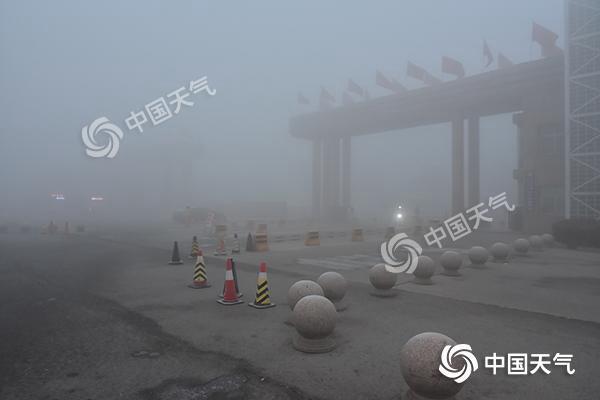今早河北浓雾弥漫 中南部高速再次全部关闭
