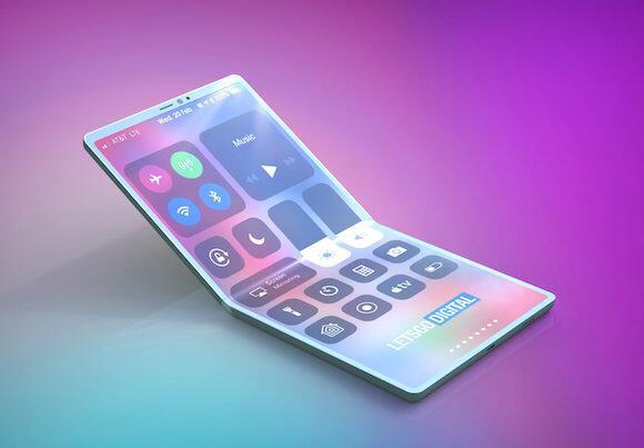"""苹果对外公布专利申请""""折叠式iPhone""""概念设计"""