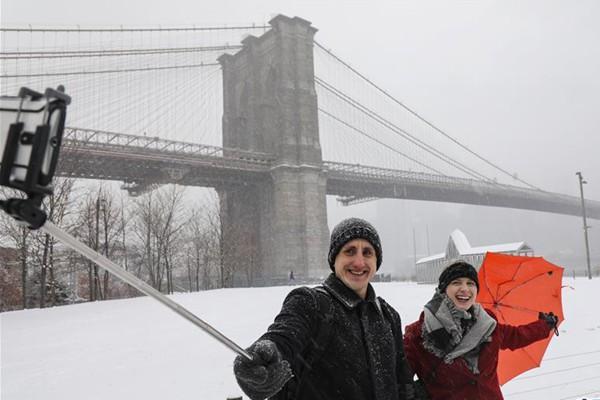 纽约迎来降雪天气