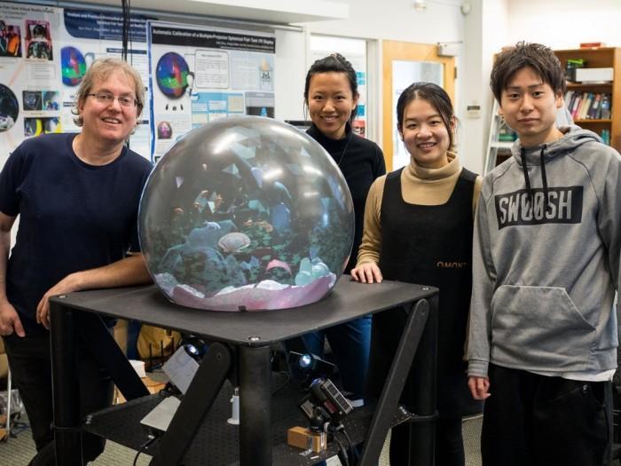 加拿大团队展示触摸式VR水晶球 为用户生成3D图像