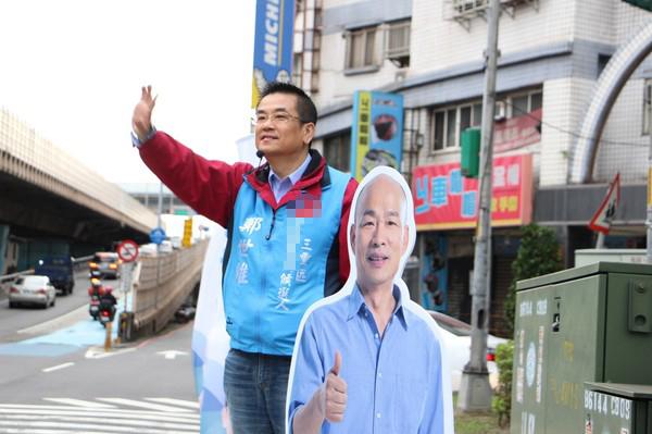 """侯友宜因腰伤缺席三重区""""立委""""补选造势活动"""