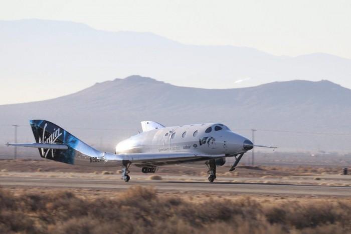 维珍银河亚轨道太空飞船的第五次超音速动力试飞