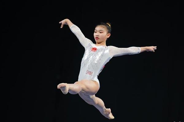 体操——世界杯墨尔本站:中国选手赵诗婷获女子平衡木金