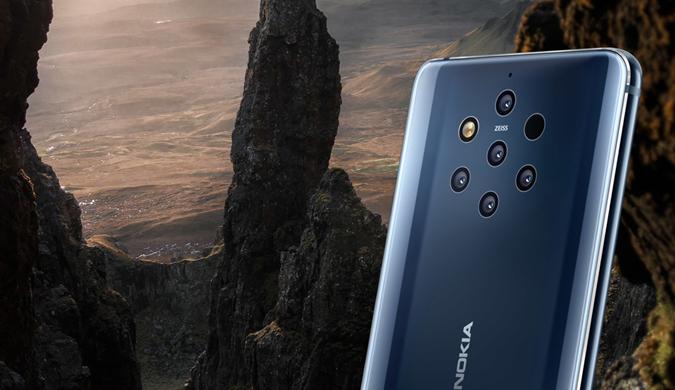 诺基亚9 PureView发布:后置五摄+屏幕指纹识别