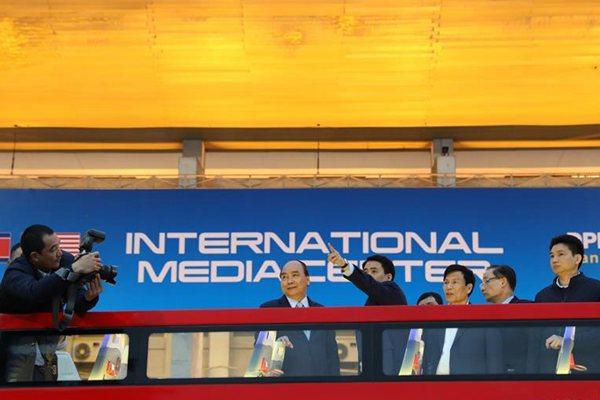 朝美领导人第二次会晤国际媒体中心设立