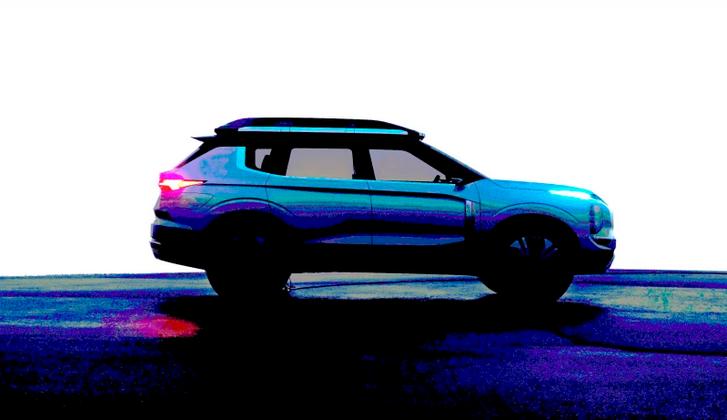 三菱Engelberg概念车再发预告图 采用分体式大灯