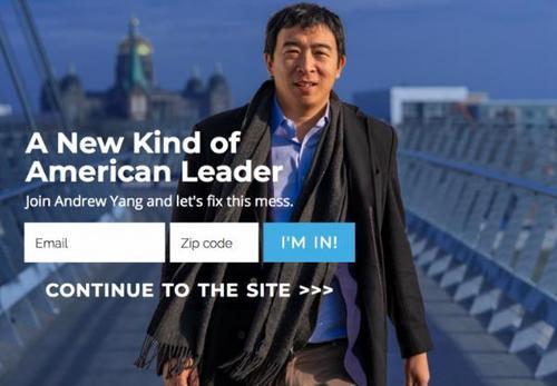 美媒:美国华人为杨安泽参选总统造势 1人1美元送他辩论