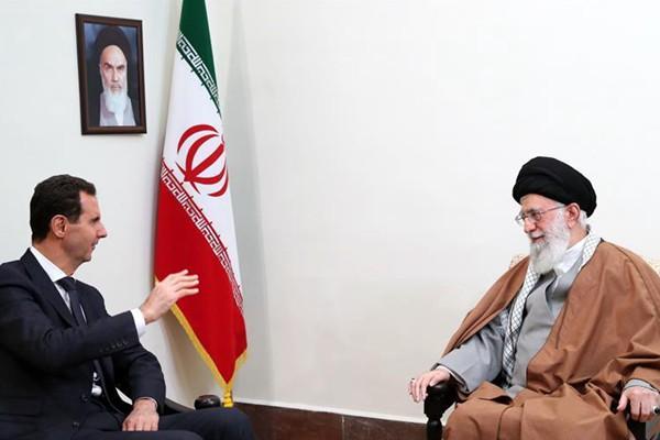 伊朗最高领袖会见叙利亚总统