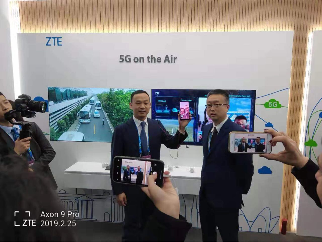 MWC2019:中兴通讯打通首个跨越地中海5G智能手机视频通话