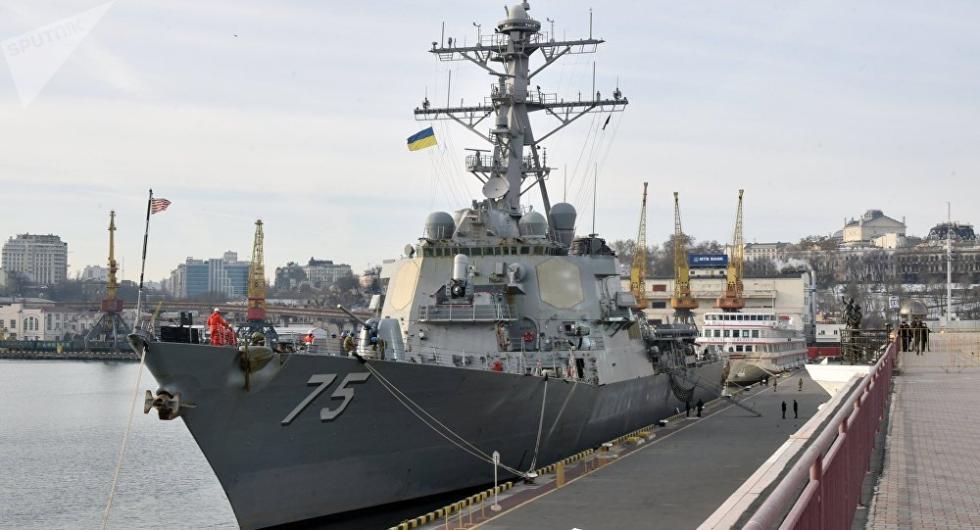 美国导弹驱逐舰停靠乌克兰港口 俄方:不间断监视