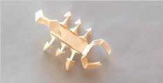 简易的立体折纸蝎子