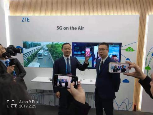中兴通讯打通首个跨地中海5G智能手机视频通话
