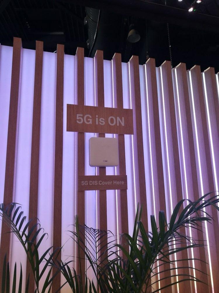 华为5G DIS系统与5G CPE Pro联合展示了5G室内覆盖体验