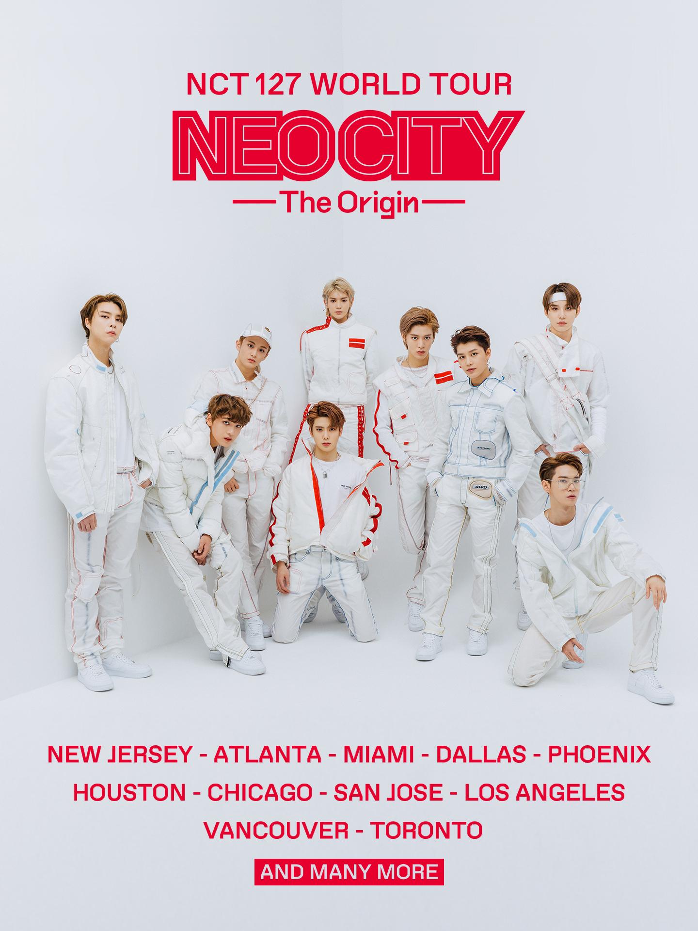 NCT 127世界巡演!亚洲、美洲、欧洲等世界范围公演确定