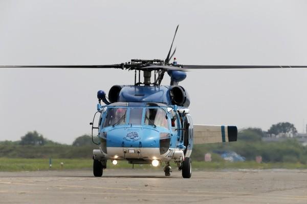 台军S-70C直升机降落尾旋翼断裂 暂无人员伤亡
