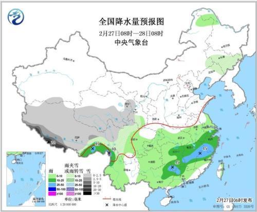 华北中南部黄淮汾渭等地有霾 南方地区持续阴雨