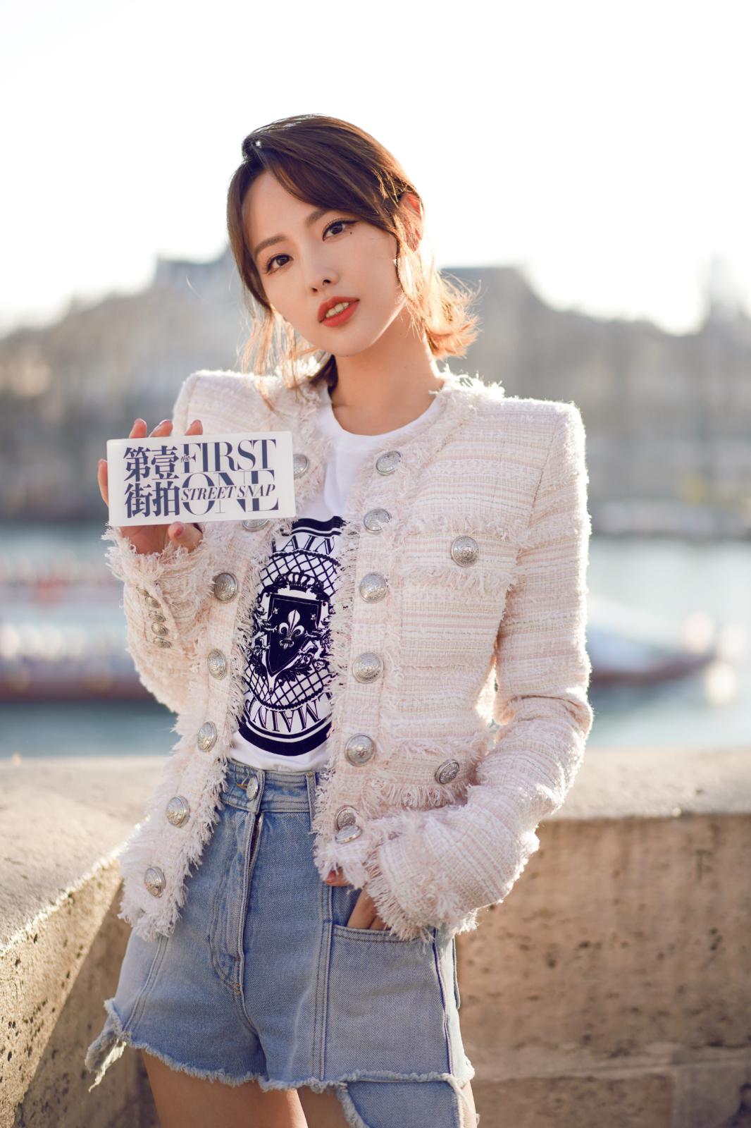 """""""幸福女王""""张嘉倪抵达法国 即将出席巴黎时装周"""