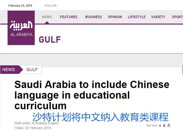 沙特网友:能学汉语很令人激动 虽难但值得尝试