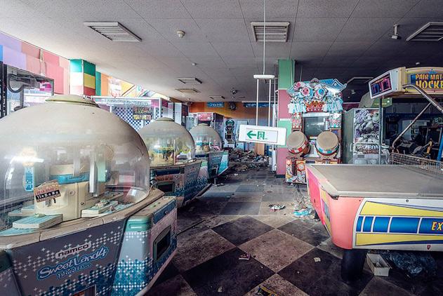 劫后福岛:本该热闹的游乐场依然一片死寂