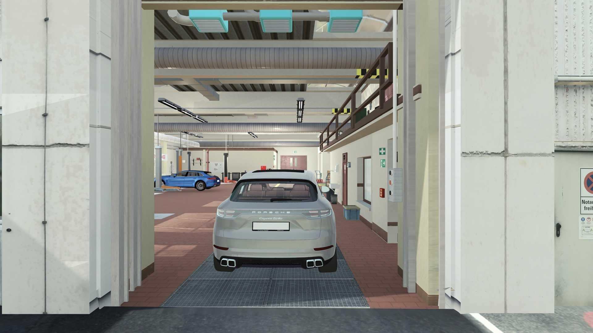 保时捷测试自动驾驶新用途 让车辆自动进车间