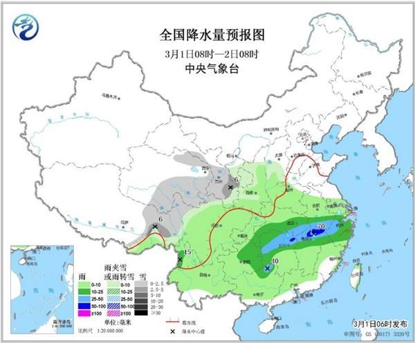 南方阴雨持续至3月上旬 北方暖意浓浓