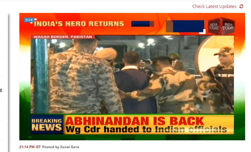 刚刚,巴基斯坦终于放人 印媒:印度的英雄回来了