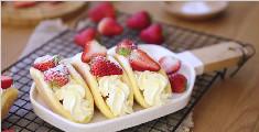 高颜值治愈系甜品之草莓欧蕾