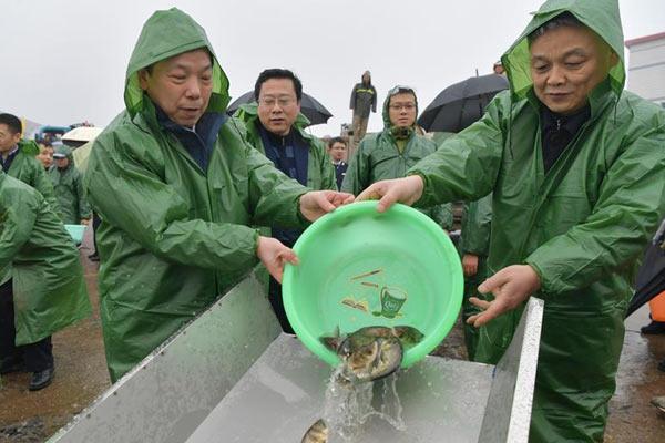 春季禁渔 增殖放流