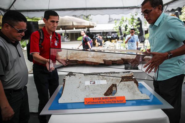 马航MH370失联迎五周年 展出3块残骸