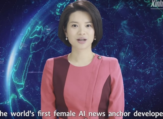 中国首个AI合成女主播上岗 外媒:几乎可以假乱真