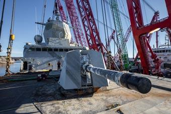 挪威宙斯盾舰沉没4个月后 终于被中国制造捞出