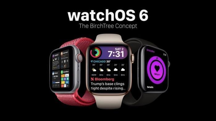 苹果watchOS 6概念: 新表盘和睡眠追踪圆环