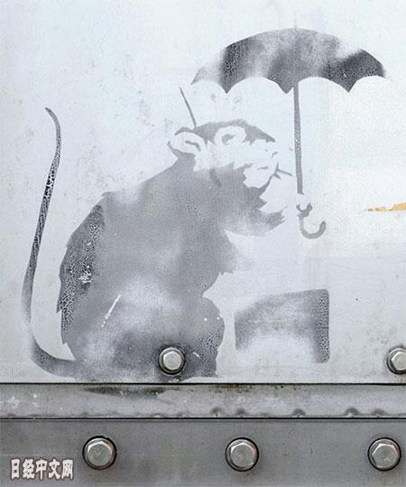 日本多地惊现疑似英国街头艺术家班克西作品引发热议
