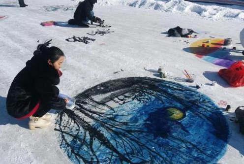 内蒙古举办冰雪大地艺术创意大赛