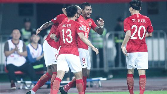 亚冠小组赛:广州恒大2-0广岛三箭