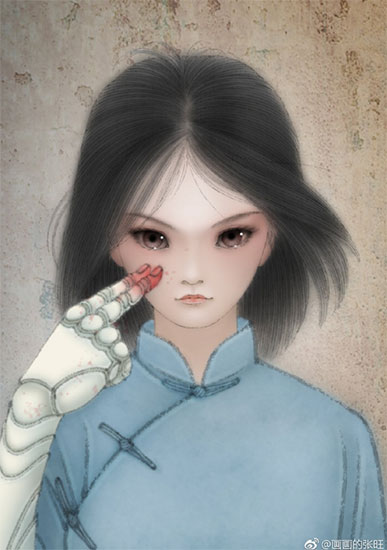 《阿丽塔:战斗天使》破8亿 艺术家献致敬手绘