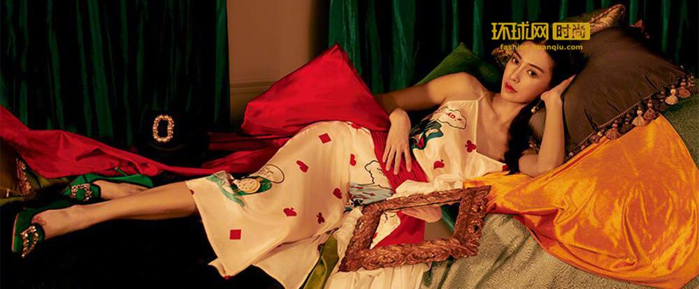 Angelababy 戴珍珠耳环的少女