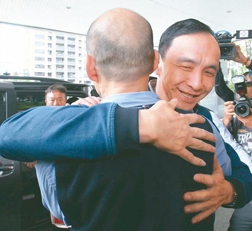 台媒:朱立伦拜访韩国瑜两人闭门会谈一小时 强调不会是对手