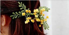 一起制作漂亮的合欢花头饰