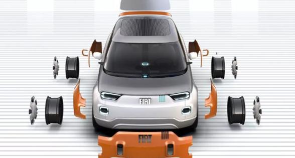 菲亚特发布最新可定制模块化概念电动汽车